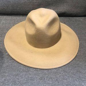 Taupe Wide Brim Felt Hat
